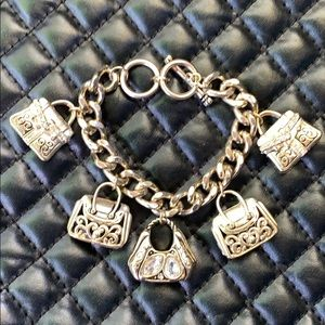 Vintage Gold Purse Charm Chain Fashion Bracelet